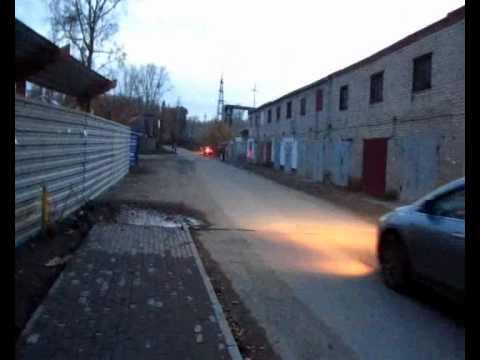 Неосвещенная улица и БИ-ПТФ - YouTube