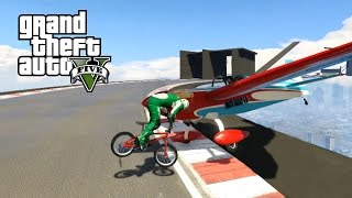 GTA 5 Online PC | PLANES vs BMX BIKES with the Crew! | GTA 5 Funny Moments