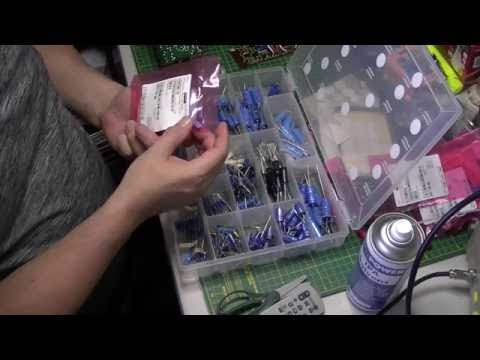 Hacker Super Sovereign RP75 transistor radio Part 4: Electrolytics done and general servicing