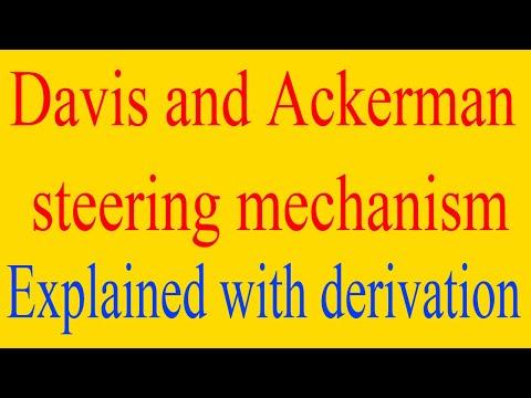davis and ackerman steering mechanism explained with diagram | davis steering mechanism derivation