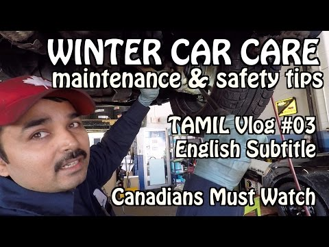 WINTER CAR CARE | TAMIL VLOG | Vlog #03 | TORONTO CANADA | CANADIANS CAR OWNERS MUST WATCH