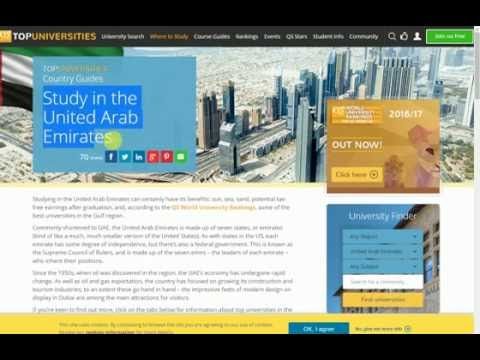 Study in the United Arab Emirates New Education Information