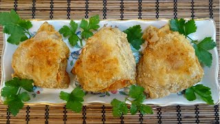 жареные хрустящие куриные бедрышки ( окорочка ) рецепт