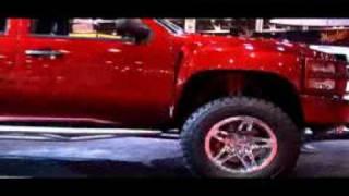 Video Dale Earnhardt Jr Big Red Silverado with Rancho Suspension download MP3, 3GP, MP4, WEBM, AVI, FLV April 2018