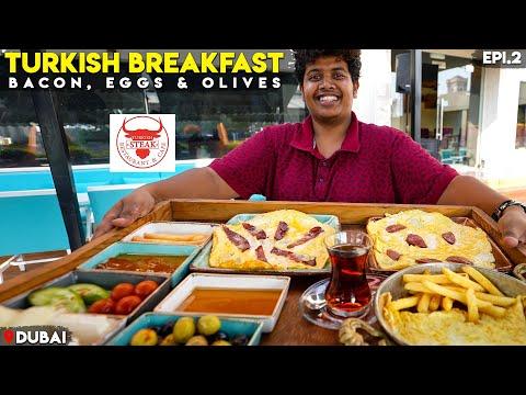 Turkish Breakfast - Bacon, Eggs and Olives | Dubai - Epi 2 | Irfan's view