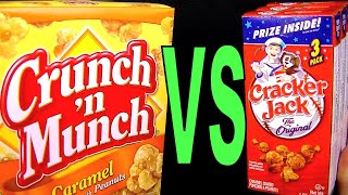 Crunch N Munch vs Cracker Jack, Dollar Tree Buy, Best Caramel Corn & Peanuts Snack FoodFights Review