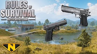 PISTOL ONLY CHALLENGE! (Rules of Survival: Battle Royale)