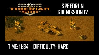 SPEEDRUN: C&C Tiberian Sun GDI Mission 17 (Hard). NO GLITCH.