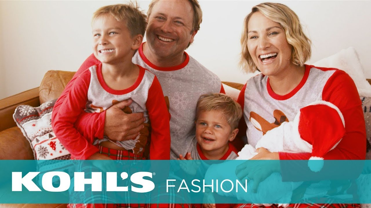 stay cozy this holiday season with chrissy powers and her familys matching pajamas kohls