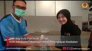 Atlet Bola Volly Putri Mulai Latihan, KONI Kabupaten Pekalongan Bekali Perlengkapan Kesehatan