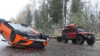 Спасательная Операция Перевернувшейся Honda Nsx (Tamiya И Traxxas Trx-4)