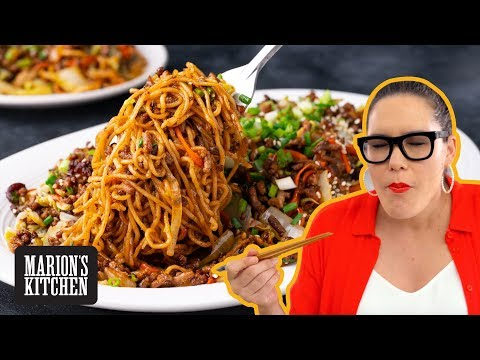 How to make a BETTER Beef Noodle Stir-fry | Hoisin Beef Noodle Stir Fry | Marion's Kitchen