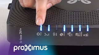 Vérifier les témoins lumineux de votre modem b-box 3V+