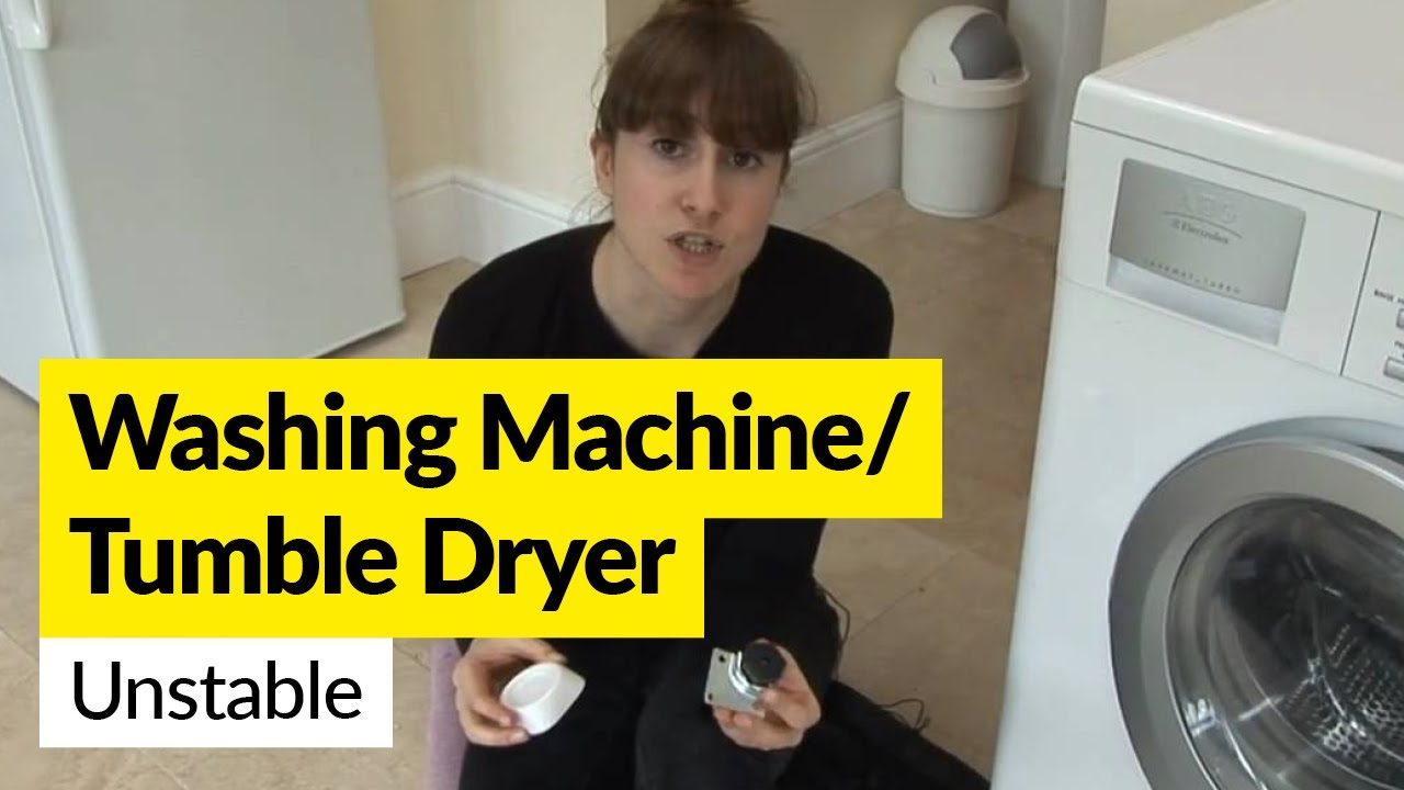 How To Fix My Washing Machine How To Fix A Wobbly Washing Machine Or Tumble Dryer Youtube