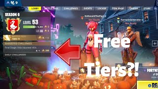 *NEW* HOW TO GET 35 BATTLEPASS TIERS RIGHT NOW - FORTNITE SEASON 6 (FREE!)