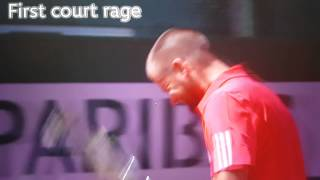 Mikhail Youzhny loses his control, smashes racket on his head at Rolang Garros