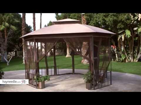 Belham Living Octagon 10' x 12' Gazebo Canopy with Curtains - Product Review Video