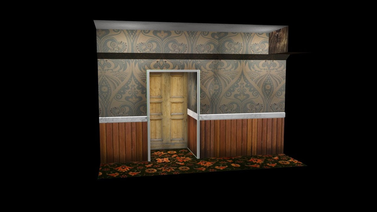3d Palace Wallpaper Model Unwrap And Texture A Spooky Coridoor In 3ds Max 2013