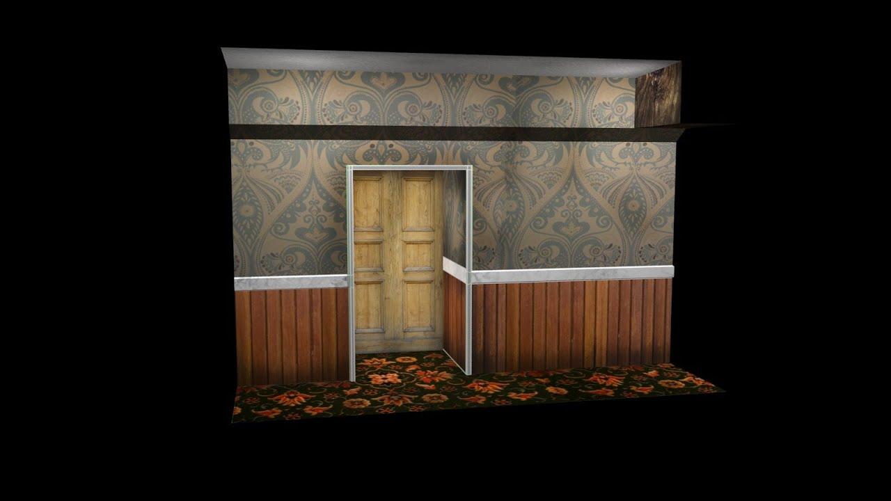 Model Unwrap And Texture A Spooky Coridoor In 3ds Max 2013