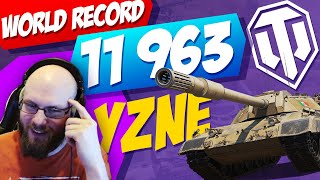 🔥 11963 DAMAGE 🔥 in Carro 45t - Yzne [FAME]   World of Tanks