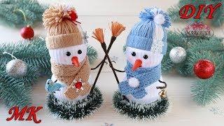 Faça Você Mesmo Boneco de Neve de Fitas – Decoração de Ano Novo com as Próprias Mãos