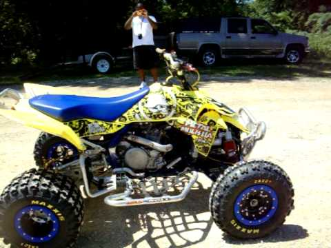 Suzuki LTR-450 quad YFZ-450 Kawasawki 450 walkaround - YouTube