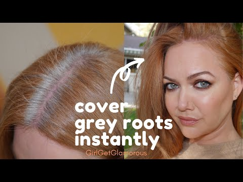 Reviewing Affordable At-Home Hair Touch Up Sprays + Powder   Instant Cover on Grey Roots w/No Dye