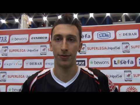 02-10-2016: #SuperLega Alberto Polo Post Molfetta - Milano 1-3(1)