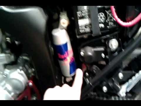 Dirt Bike Images >> Red Bull can on rear shock canister - YouTube