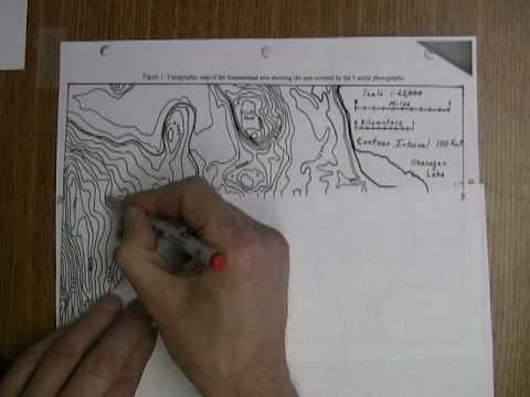 Topographic Map Profiles   Part 1   YouTube
