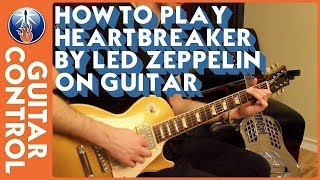 How to Play Heartbreaker by Led Zeppelin On Guitar - Simple Jimmy Page Guitar Lesson