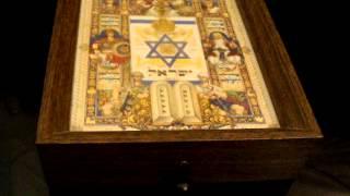 "Rare Vintage Jewish Thorens Music Box Arthor Szyk Hatikvah Israel ""hanukkah"""