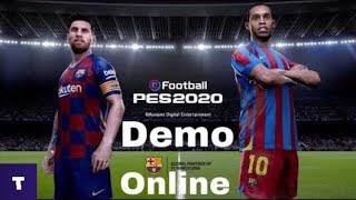 PES 2020 DEMO online | обзор | мое мнение | игра с подписчиком