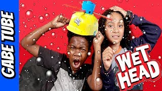 Top Toys WET HEAD CHALLENGE!!! Extreme WET ENDING of The Liquid Hat Game Gabe Tube TV