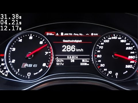 Audi RS6 C7 Acceleration 0-100 / 0-200 Km/h LOUD Sound