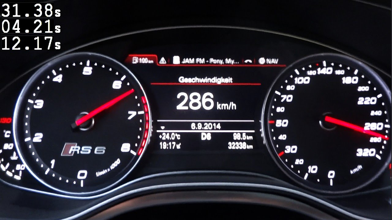 Audi Rs6 C7 Acceleration 0 100 0 200 Km H Loud Sound