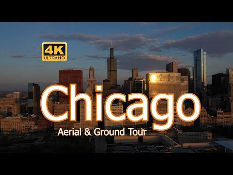 Chicago in 4k - Aerial & Ground Sight Seeing Tour