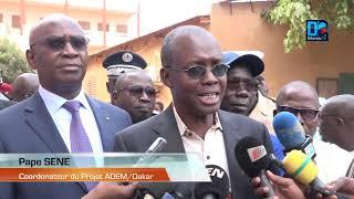 Serigne Mbaye Thiam sur les sites des Collèges réhabilités et  2  nouveaux construits