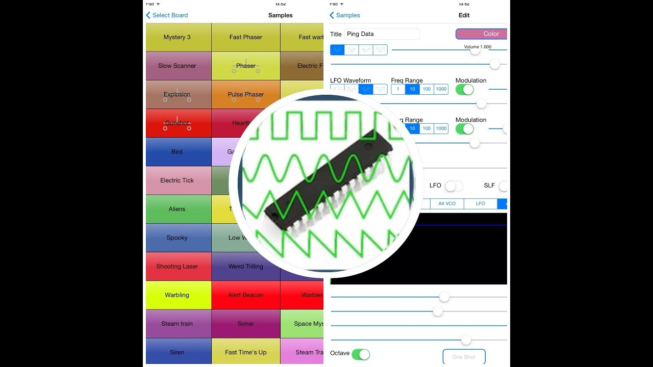 Synth 76477 - A sound effects generator and synthesizer app