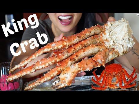 Giant King Crab (EATING SOUNDS) Soft Spoken ASMR MUKBANG | SAS-ASMR