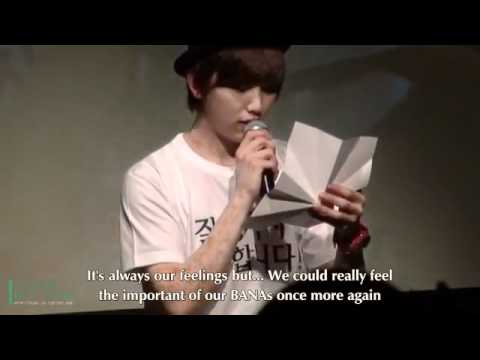 [Eng] 120318 B1A4 SANDEUL DAY - Letter To BANAs