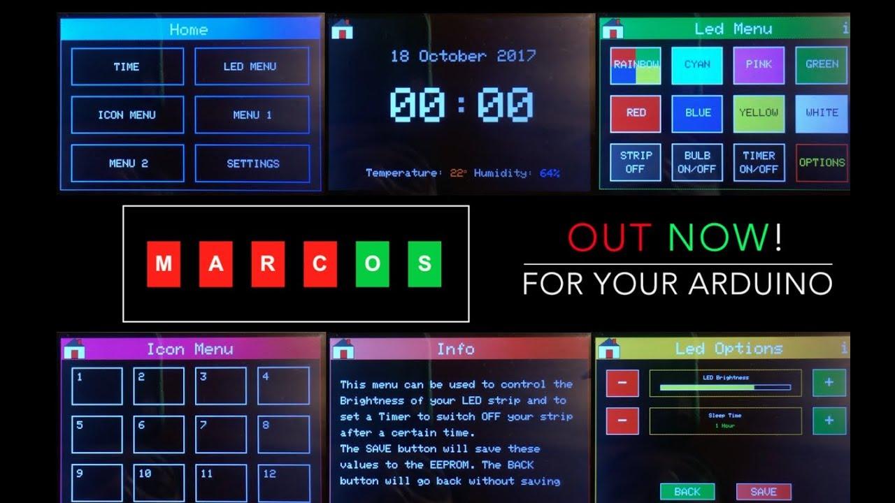 MarcOS v1 0 | A Touchscreen menu for your Arduino