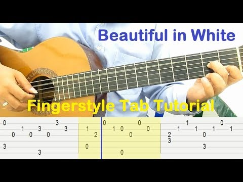 beautiful in white guitar tutorial fingerstyle tab guitar lessons for beginners youtube. Black Bedroom Furniture Sets. Home Design Ideas