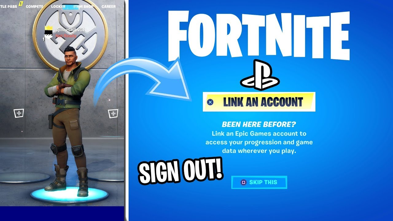 How to SIGN OUT OF FORTNITE ON PS4 (EASY METHOD) - YouTube