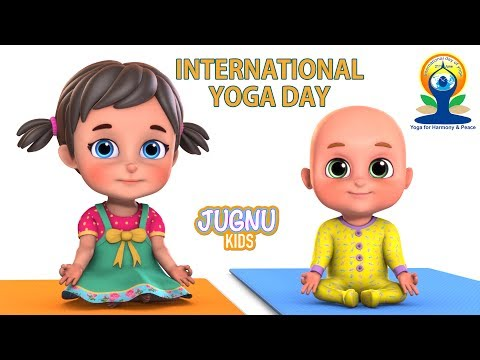 International Yoga Day | Yoga Dance Class | yoga day | Hindi Rhymes | Kids Yoga by Jugnu Kids