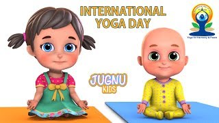 International Yoga Day | Yoga Dance Class | yoga day | Hindi Rhymes | Kids Yoga by Jugnu Kids