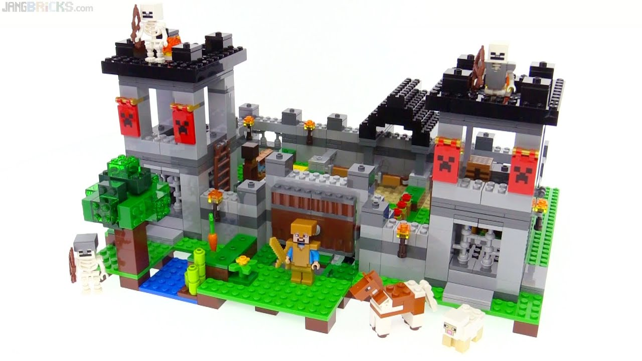 lego minecraft the fortress review 21127 youtube