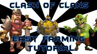Clash Of Clans Farming Bases For Gold Elixir and Dark Elixer! ClashofClans Gameplay
