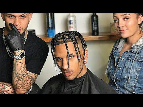 Travis Scott Inspired Braids Hairstyle  Afro Haircut  YouTube