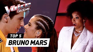 SURPRISING BRUNO MARS covers in The Voice